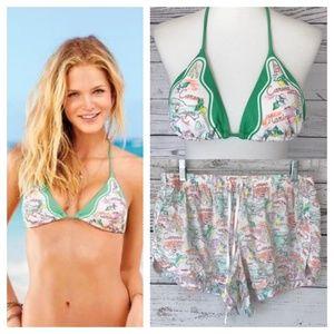 VICTORIA'S SECRET Capri Island Bikini Top & Shorts